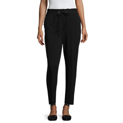Worthington Mid Rise Drawstring Waist Cropped Pants