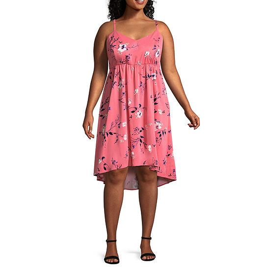 Boutique + Sleeveless Babydoll Dress - Plus