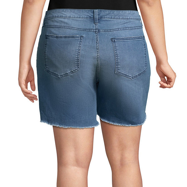 "Boutique + 6"" Denim Shorts - Plus"
