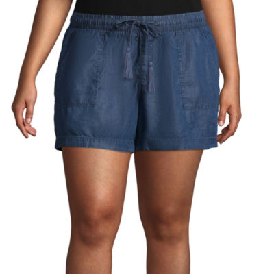 Boutique + Chambray Soft Shorts - Plus