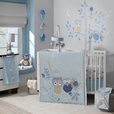 Happi By Dena Night Owl 4-pc. Crib Bedding Set