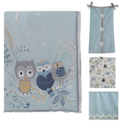 Happi By Dena Night Owl 4-pc. Crib Bedding Set