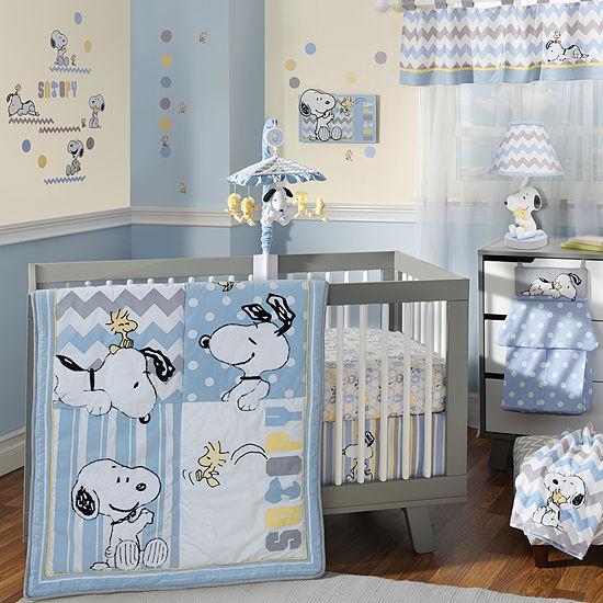 Snoopy Crib Bedding Set