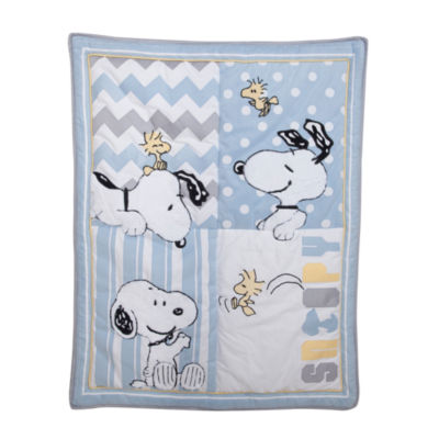 Peanuts My Little Snoopy 4-pc. Snoopy Crib Bedding Set