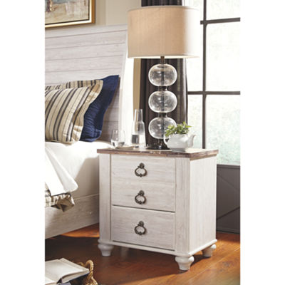 Signature Design by Ashley® Smithfield Two Drawer Nightstand