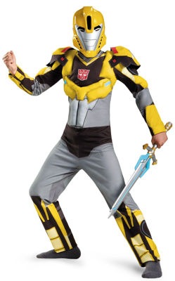 Transformers Robots in Disguise: Bumblebee Animated Muscle Child Costume