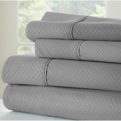Casual Comfort™ Premium Ultra Soft Checkered Microfiber Wrinkle Free Sheet Set