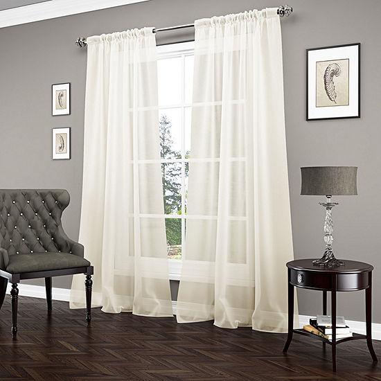 Beautyrest Carrington Sheer Rod-Pocket Curtain Panel