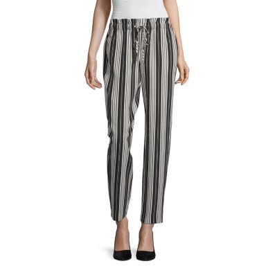 Worthington Womens Mid Rise Straight Drawstring Pants