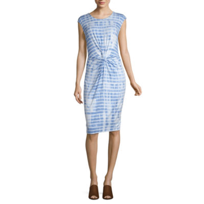 Liz Claiborne Ibiza Waves Short Sleeve Tie Dye Shift Dress