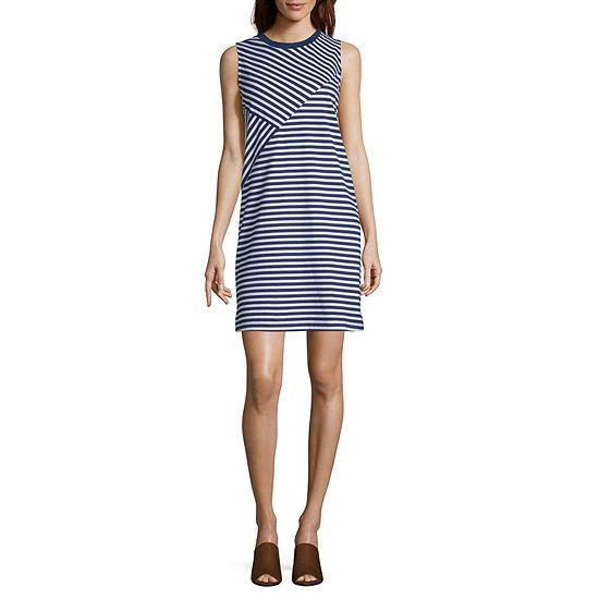 Liz Claiborne Weekend Sleeveless Striped Shift Dress