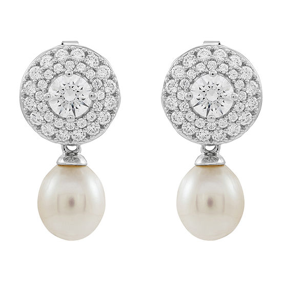 LIMITED QUANTITIES! Honora Legacy White Cultured Freshwater Pearl Sterling Silver Drop Earrings