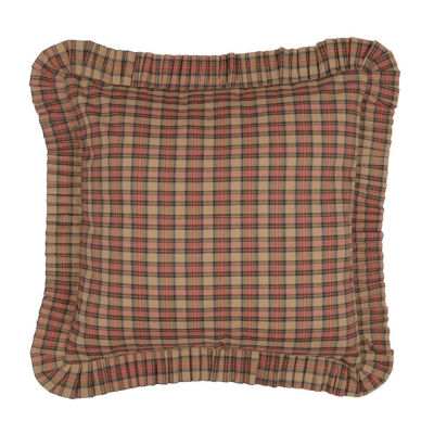 Ashton And Willow Cinnamon Plaid Reversible Euro Sham