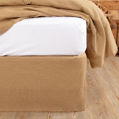 Ashton And Willow Veranda Burlap Natural Bed Skirt