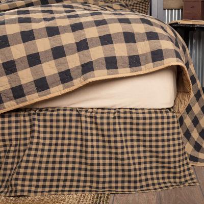 Ashton And Willow Cody Black Burgundy Bed Skirt