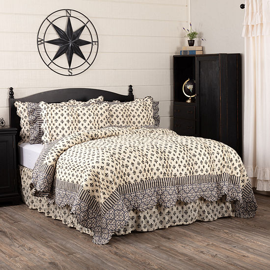 Ashton And Willow Fleur De Lis Reversible Quilt