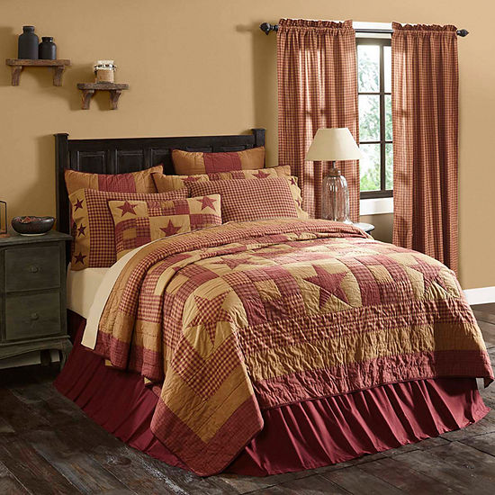 Ashton And Willow Cody Burgundy Star Reversible Quilt