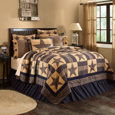 Ashton And Willow Cody Navy Star Reversible Quilt