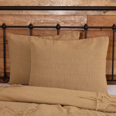 Ashton And Willow Veranda Burlap Natural Reversible Pillow Sham