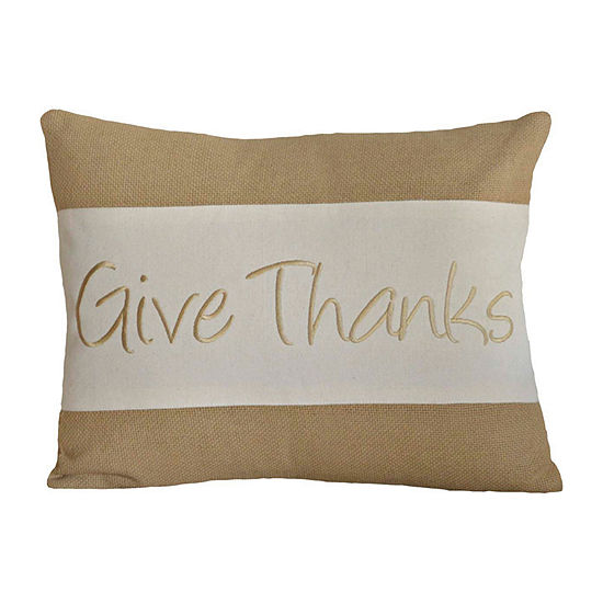 Ashton And Willow Give Thanks 14x18 Lumbar Pillow