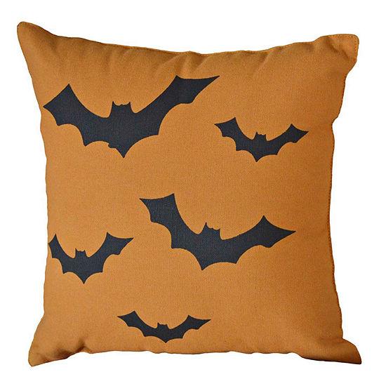 Ashton And Willow Halloween Bats 12x12 Throw Pillow