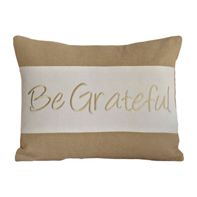 Ashton And Willow Be Grateful 14x18 Lumbar Pillow
