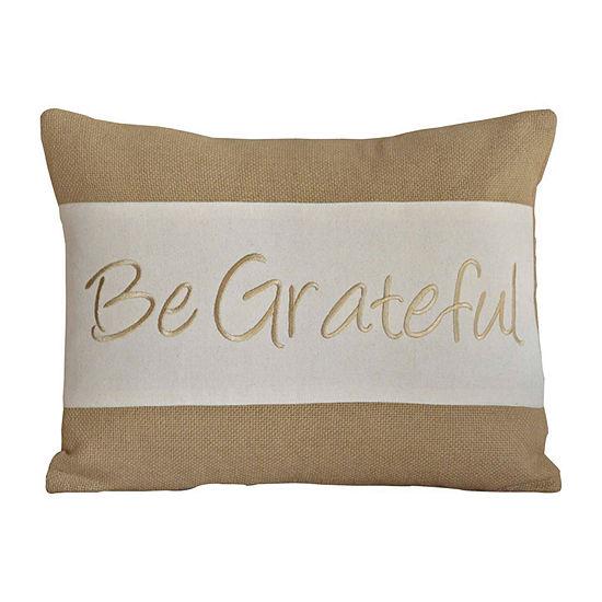 Ashton And Willow Be Grateful 14x18 Lumbar Pillow