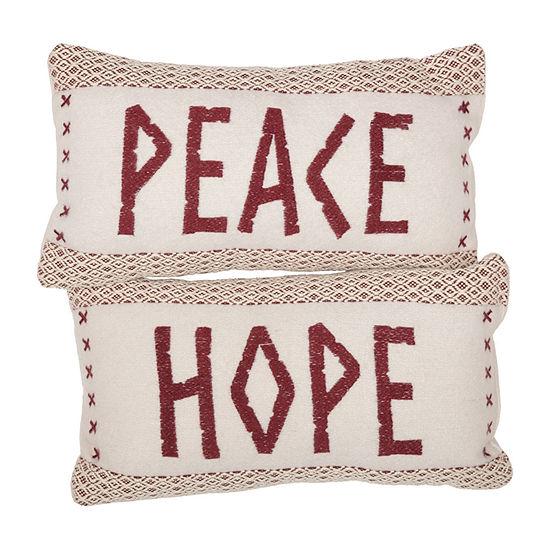 Ashton And Willow Peace & Hope 7x13 Lumbar Pillow