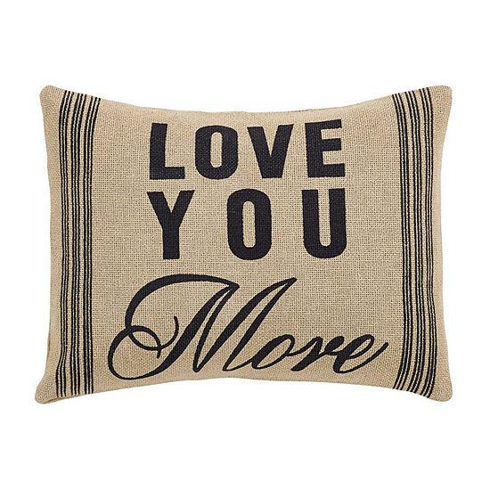 Ashton And Willow Love You More 14x18 Lumbar Pillow