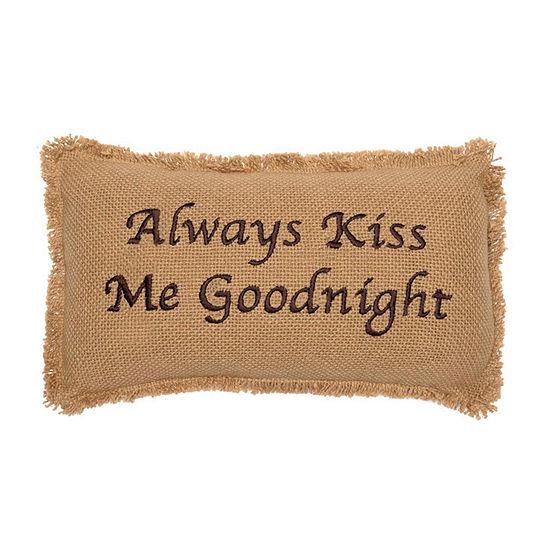 Ashton And Willow Kiss Me Goodnight 7x13 Lumbar Pillow