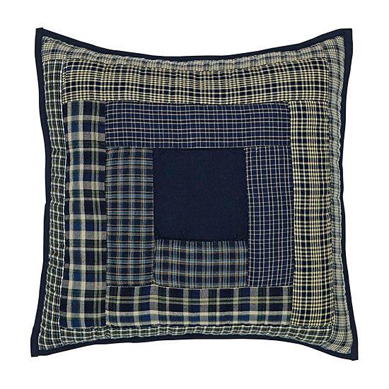Ashton And Willow Carson Blue Plaid 16x16 Throw Pillow