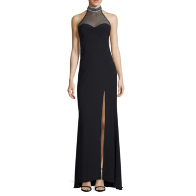 DJ Jaz Sleeveless Beaded Fitted Gown-Juniors