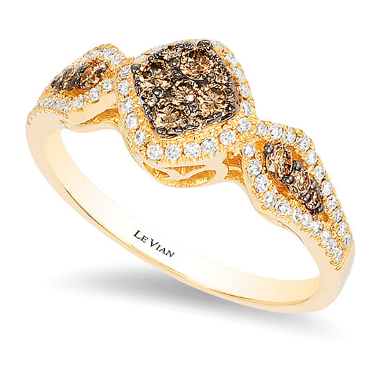 Le Vian Grand Sample Sale™ Ring featuring Chocolate Diamonds®, Vanilla Diamonds® set in 14K Honey Gold™