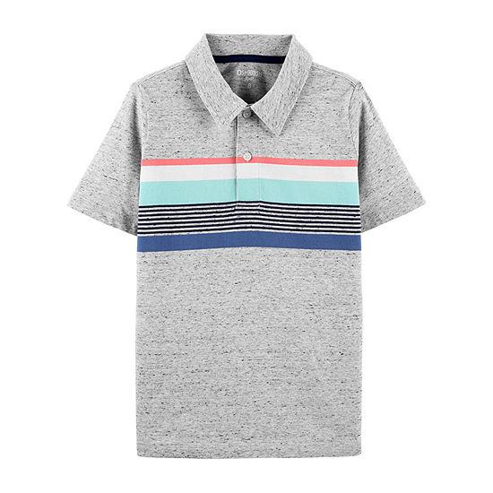 Oshkosh Boys Spread Collar Short Sleeve Polo Shirt - Preschool