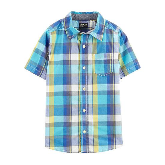 Oshkosh Boys Short Sleeve Button-Front Shirt
