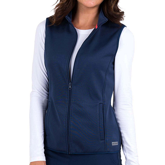 Med Couture Womens 8690 Performance Fleece Scrub Vest - Plus