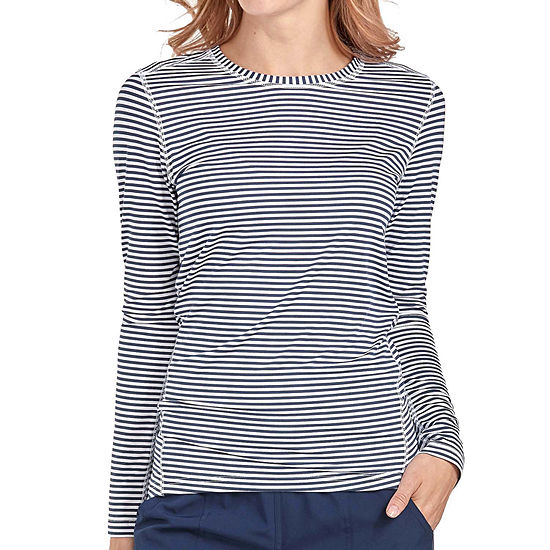 Med Couture Womens 8522 Performance Knit Crew Neck Scrub Tee