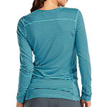 Med Couture Womens 8522 Performance Knit Crew Neck Scrub Tee - Plus