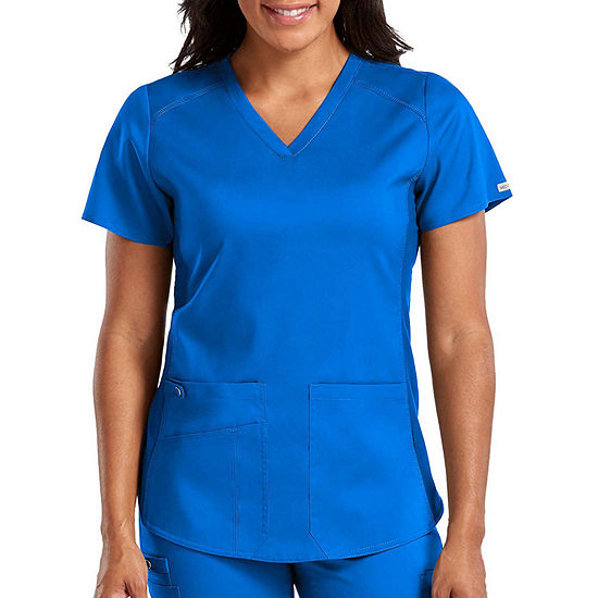 Med Couture Womens 7459 V-Neck Shirttail Scrub Top