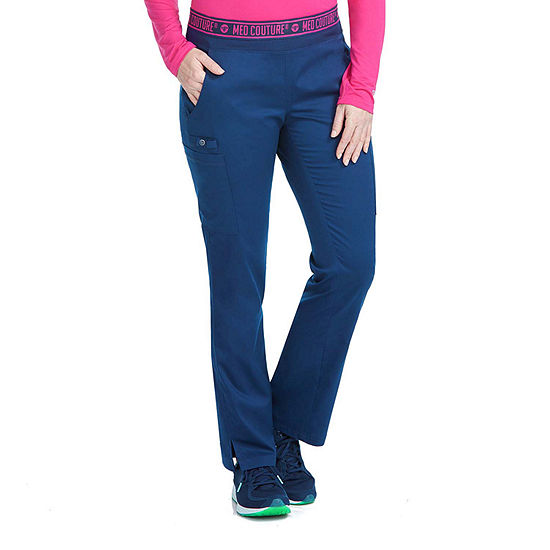 Med Couture Womens 7739P Yoga 2 Cargo Scrub Pants - Petite