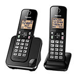 Panasonic KX-TGC352B DECT 6.0 Expandable Cordless Phone with 2 Handsets
