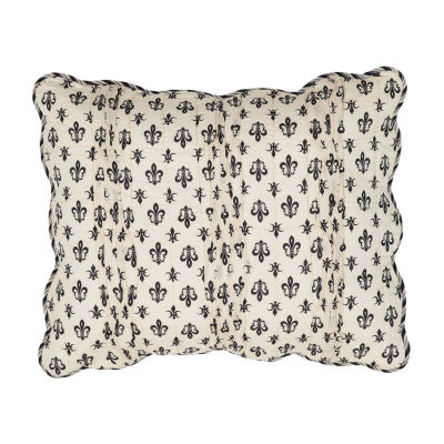 Ashton And Willow Fleur De Lis Reversible Pillow Sham