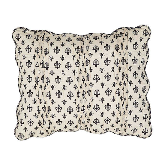 Ashton And Willow Fleur De Lis Reversible Pillow Sham