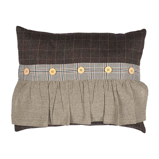 Ashton And Willow Sheridan Rustic Brown 14x18 Lumbar Pillow