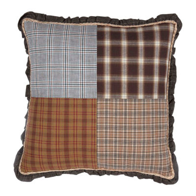 Ashton And Willow Sheridan Rustic Brown 18x18 Throw Pillow