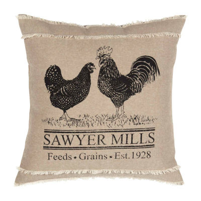 Ashton And Willow Miller Farm Poultry 18x18 Throw Pillow