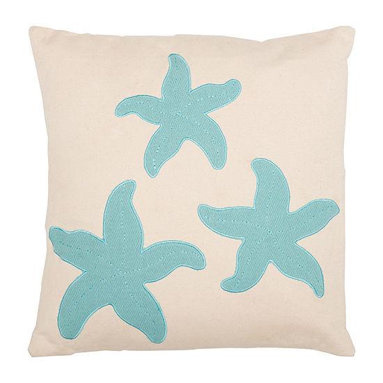 Ashton And Willow Three Starfish 18x18 Throw Pillow