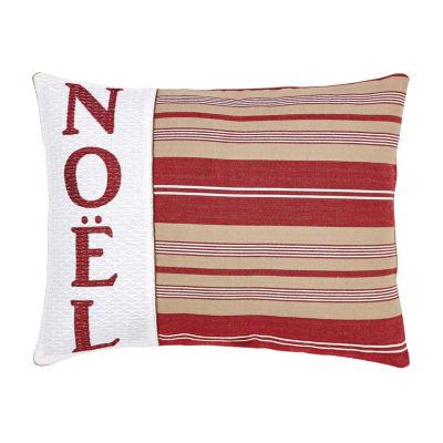 Ashton And Willow Vintage Stripe Noel 14x18 Lumbar Pillow