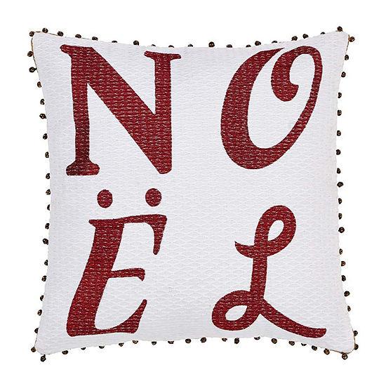 Ashton And Willow Vintage Stripe Noel 16x16 Throw Pillow