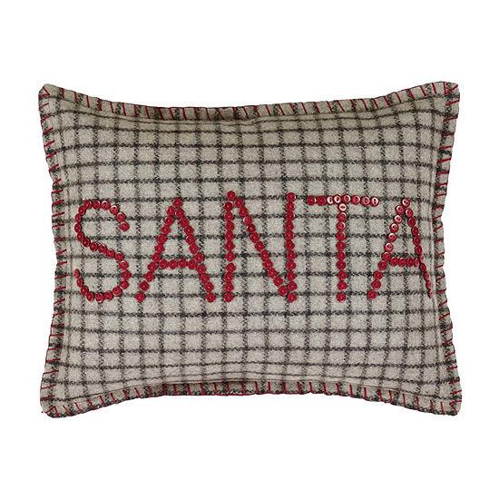 Ashton And Willow Weston Button Santa 14x18 Lumbar Pillow
